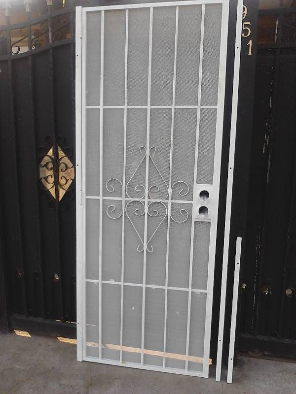 43 best images about metal security doors on pinterest for Puertas metalicas exterior
