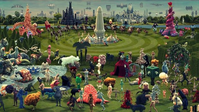 A Vividly Animated Digital Interpretation of 'The Garden Of Earthly Delights' by Hieronymus Bosch