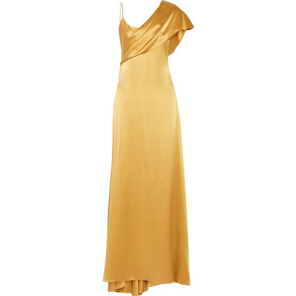 Cushnie et Ochs Zahara Draped Silk charmeuse Gown (7770 MAD) ❤ liked
