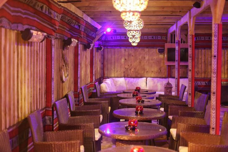 Inside the #shisha #garden #cafe. #Turkish #lanterns and unique #table and #chair design. #Night #Margate