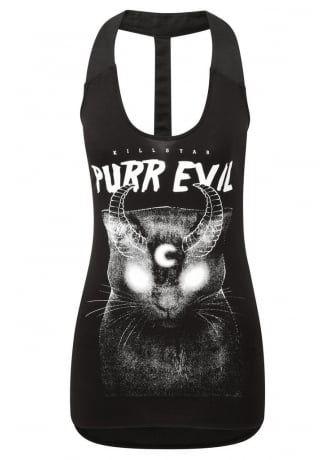 Killstar Purr Evil Spine Vest | Attitude Clothing