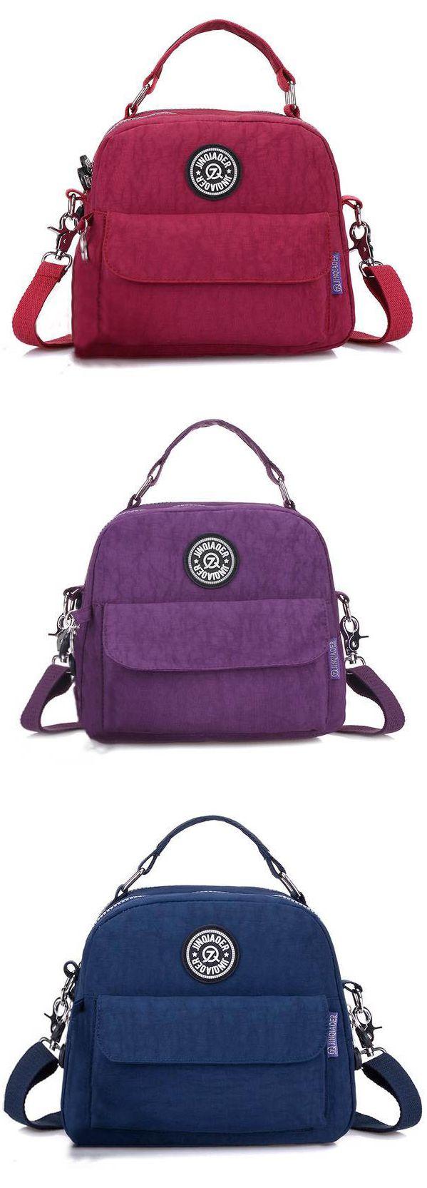 US$16.79 Women Waterproof Casual Portable Totes Crossbody Bags Shoulder Bags Backpack