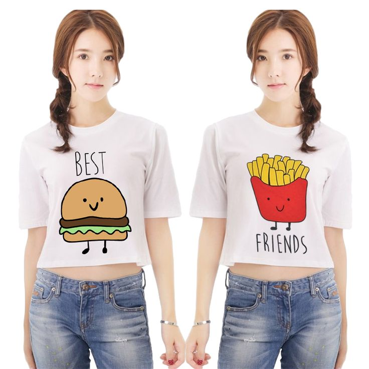 Günstige Frauen t shirts beste freunde t shirt Brief druck mike harajuku kawaii Cartoon weiß T Shirts Plug größe Twin shirts NV16 J, Kaufe Qualität T-Shirts direkt vom China-Lieferanten: Frauen t-shirts beste freunde t-shirt Brief druck mike harajuku kawaii Cartoon weiß T-Shirts Plug größe Twin shirts NV16-J
