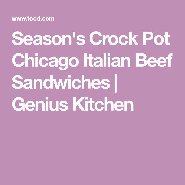 Season's Crock Pot Chicago Italian Beef Sandwiches | Genius Kitchen