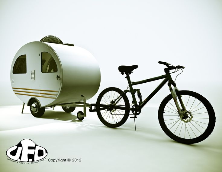 Urban Freedom Outlander bicycle camper/trailer. A cool idea, though I wonder how heavy it is/how hard it would actually be to pull.
