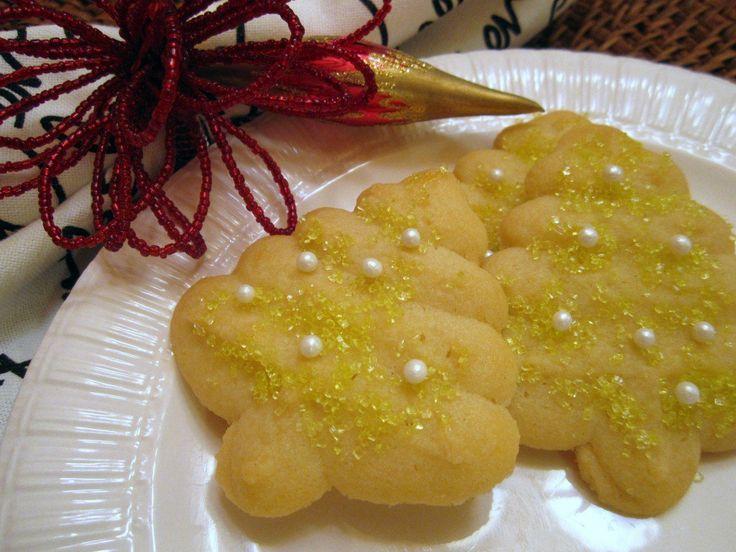 Spritz Cookies – sugar free, made with Truvia sugar replacer
