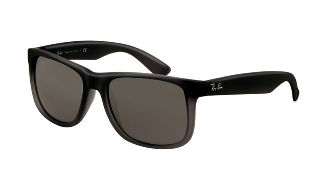 Ray Ban Rb4165 Justin Sunglasses Rubber Grey With Grey