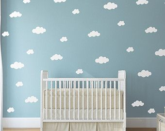Happy Clouds Wall Decals Clouds Decal White Cloud door LivingWall
