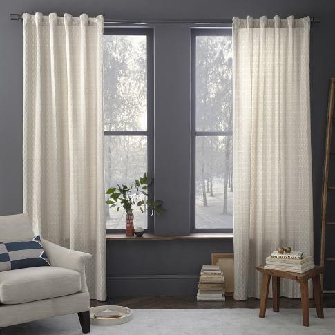 Painterly Diamond Jacquard Curtain, 48