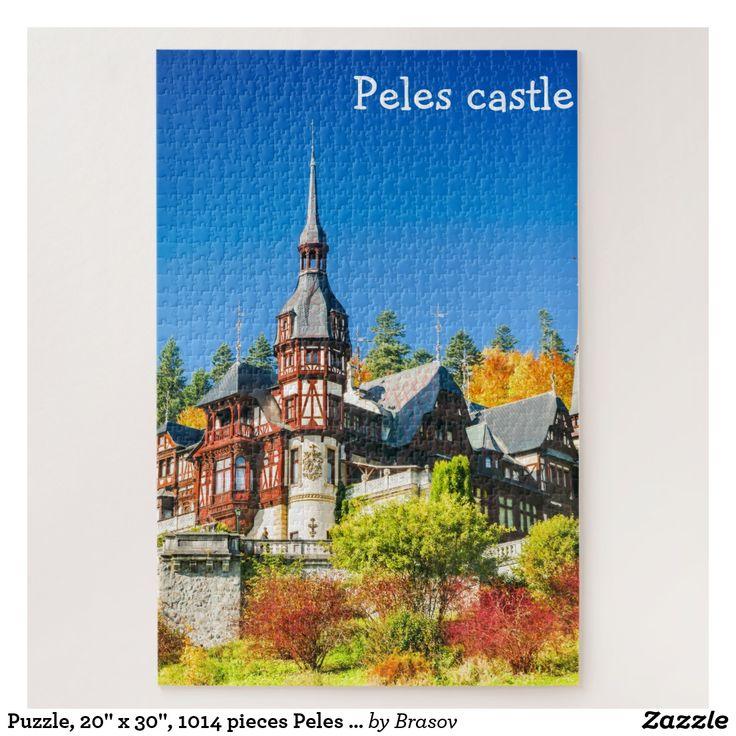 """Puzzle, 20"""" x 30"""", 1014 pieces Peles castle"""