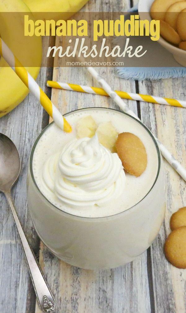 Banana Pudding Milkshake - an easy, delicious dessert!