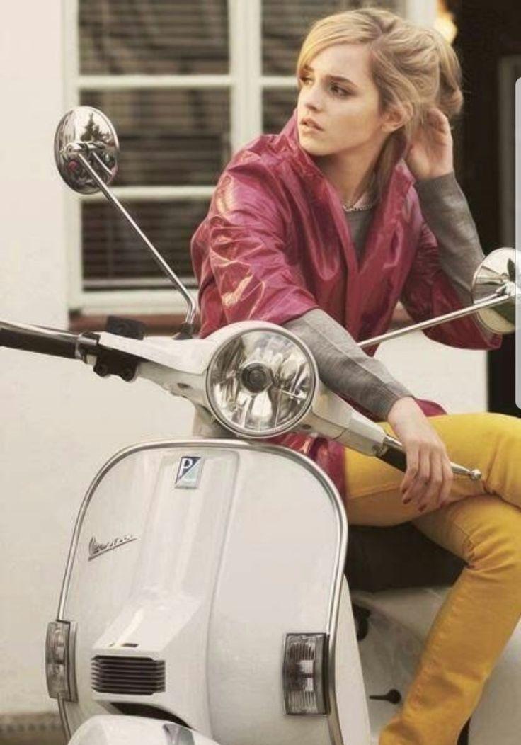 Emma Watson on a Vespa