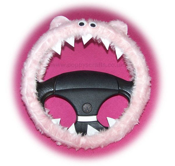 cute Fluffy pink monster steering wheel cover faux fur googly eyes and  teeth fuzzy furry fun for car truck suv van jeep dragon girly girl car  accessories. The 25  best Girl car accessories ideas on Pinterest   Girly car