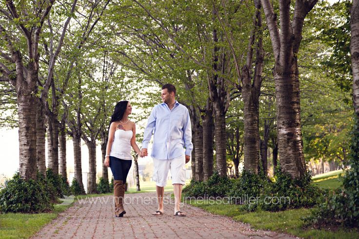 Burlington engagement photography session Spencer Smith Park golden hour dusk