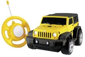 My 1st RC Jeep Wrangler 27 MHZ.  For ages 3 and up. The My 1st RC Jeep Wrangler's chunky style is perfect for little hands. It's durable and maneuvers pretty well. http://awsomegadgetsandtoysforgirlsandboys.com/kid-galaxy/ Kid Galaxy: My 1st RC Jeep Wrangler