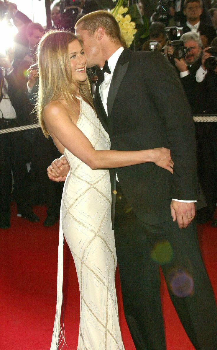 In 2004, Brad Pitt & Jennifer Aniston #cannes #troy