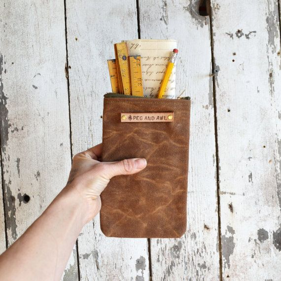 The Scribbler in Spice: Zipper top pencil case by Peg by PegandAwl