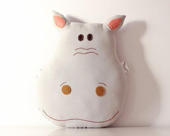 Hippo Pillow Cushion Handmade Room Decoration