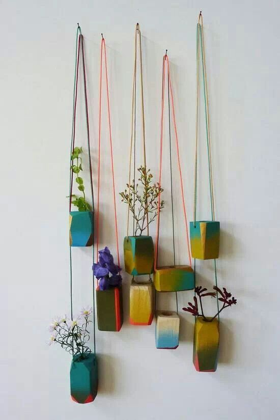 Lovely glazed hanging pots.