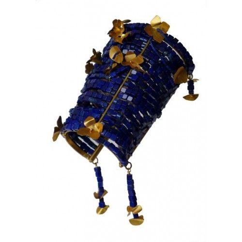 """Pallas"" Bracelet: lapis lazuli, silver gold plated"