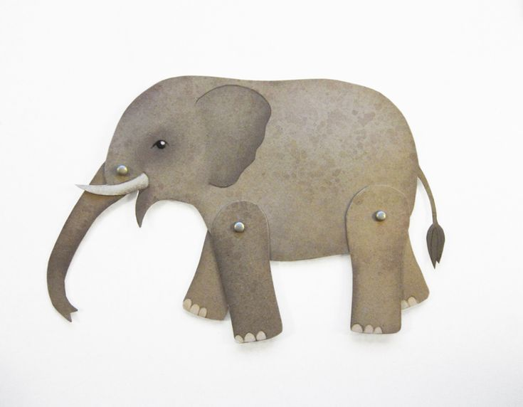 Bastelbogen Elefant von enna shop auf DaWanda.com