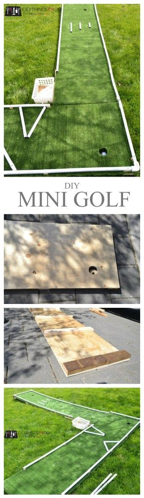 DIY mini golf, mini-golf, mini-putt, DIY mini-putt, backyard games, backyard fun, DIY backyard games, pvc pipe projects