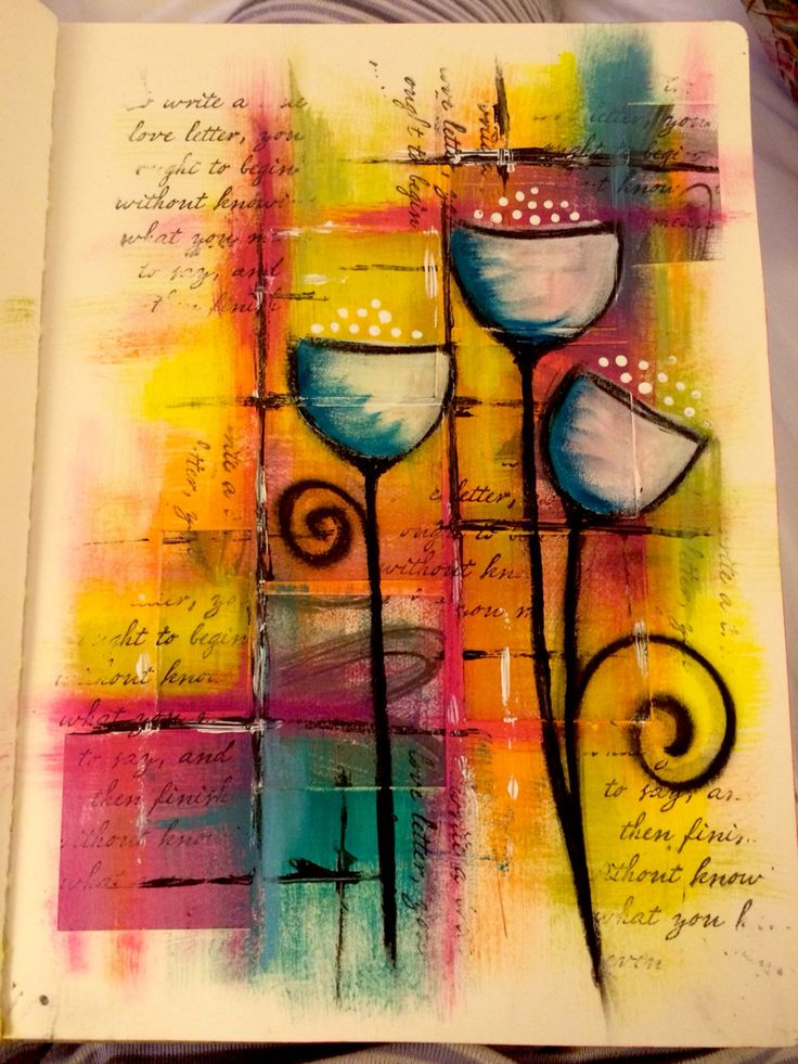 Playtime in my art journal.                                                                                                                                                      More