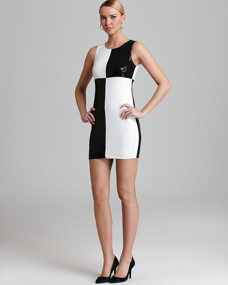 Bailey 44 Dress - Dig Out Color Block Sequin | Bloomingdale's
