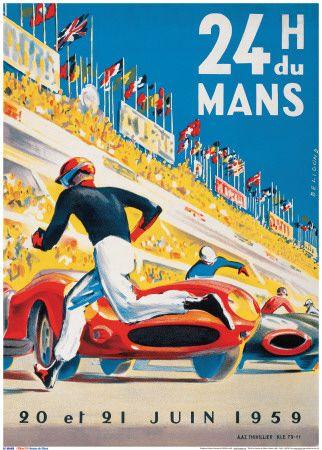Le Mans 20 et 21 Juin 1959 Art Print at AllPosters.com