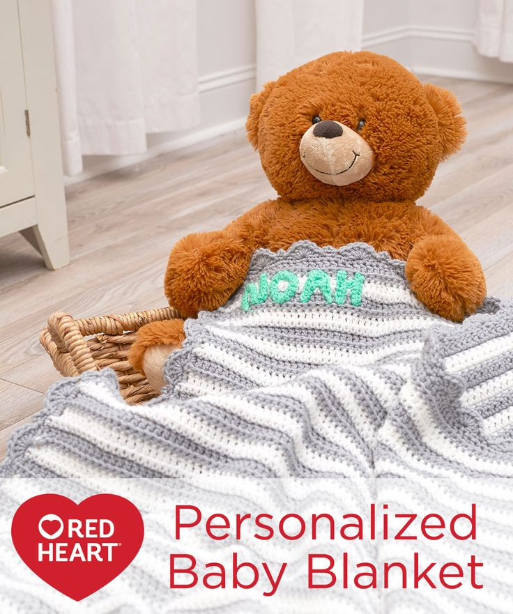 Personalized Baby Blanket Free Crochet Pattern in Red ...