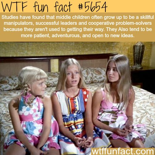 Middle children facts - WTF fun fact