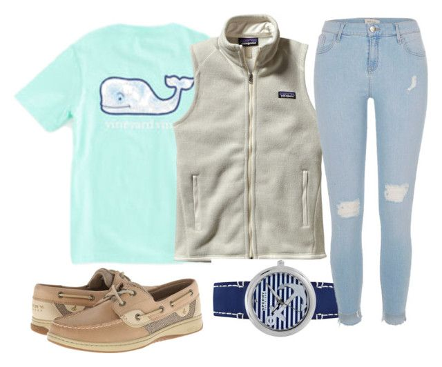 Thursday Outfit by secrowenj on Polyvore featuring Patagonia, River Island, Sperry and Vineyard Vines