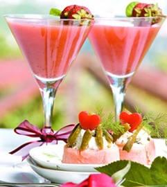 Batido de fresa con vino blanco como aperitivo - Recetas - Estampas