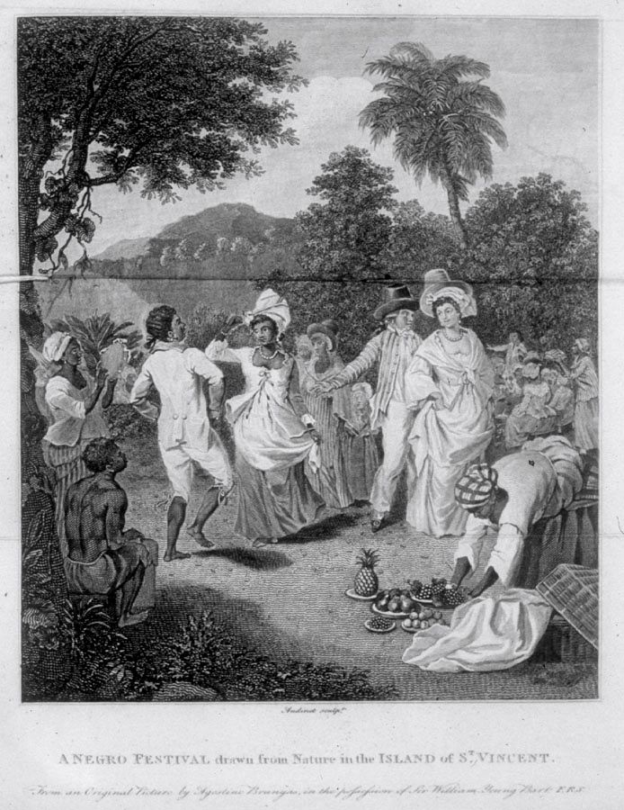 Slave Festival, St. Vincent, West Indies, 1770s