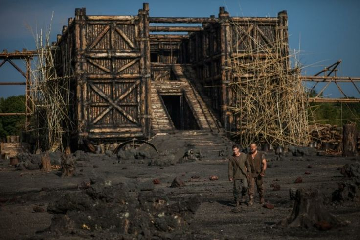 """Logan Lerman and Russell Crowe in """"Noah,"""" filmed partly in the Long Island town of Oyster Bay."""