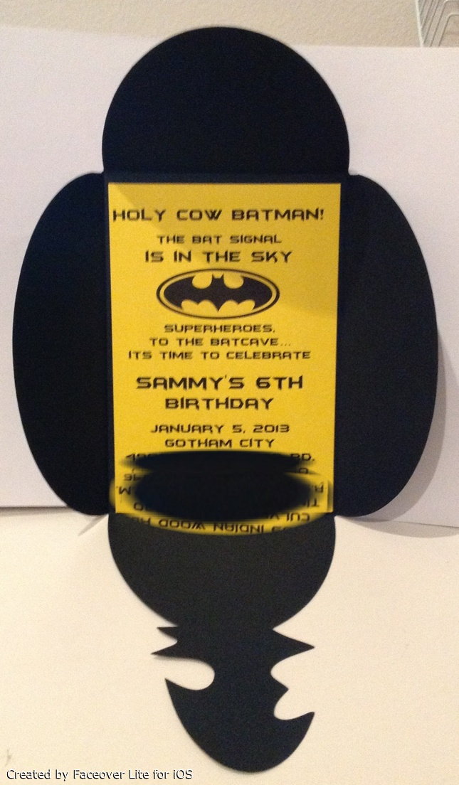 Batman invitation | Handmade by me | Pinterest | Awesome ...