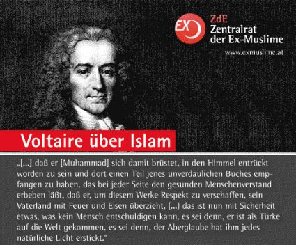voltaire muslim Were never viewed as interdependent, the general consensus was that women were dependent on men and men were independent with advancement and revolution this view has changed, this view is however still strong in the muslim.