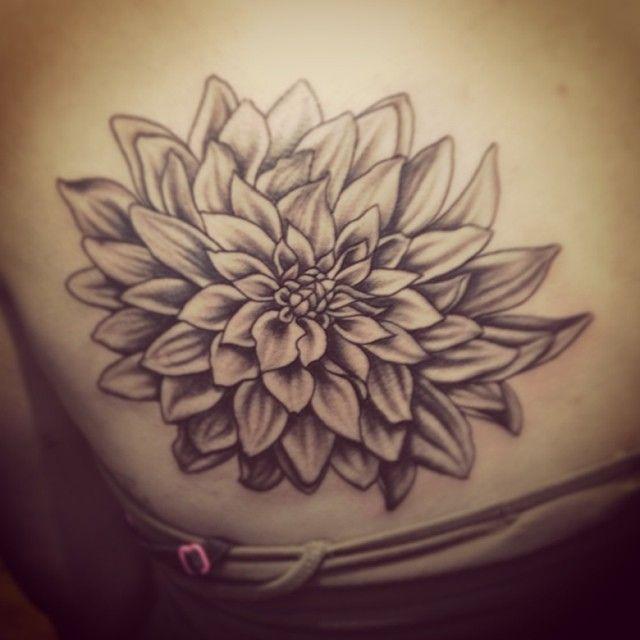 dahlia tattoo Woah, Woah, WOAH! That's exactly what I've been imagining!! Done.