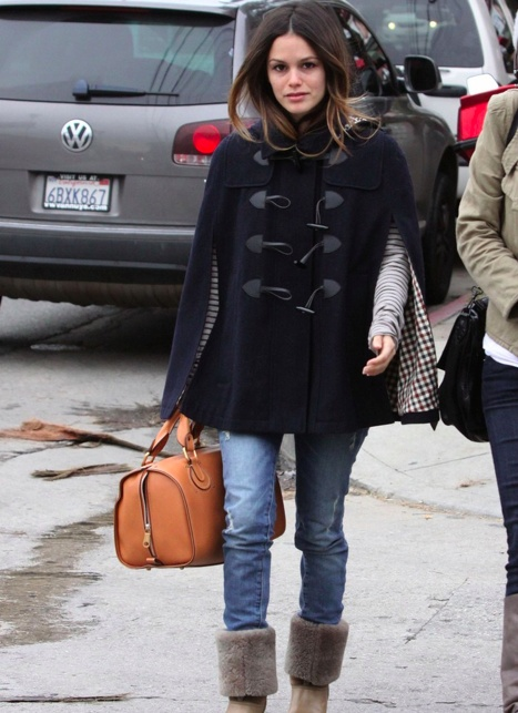 rachel bilson street style prep for a nyc winter