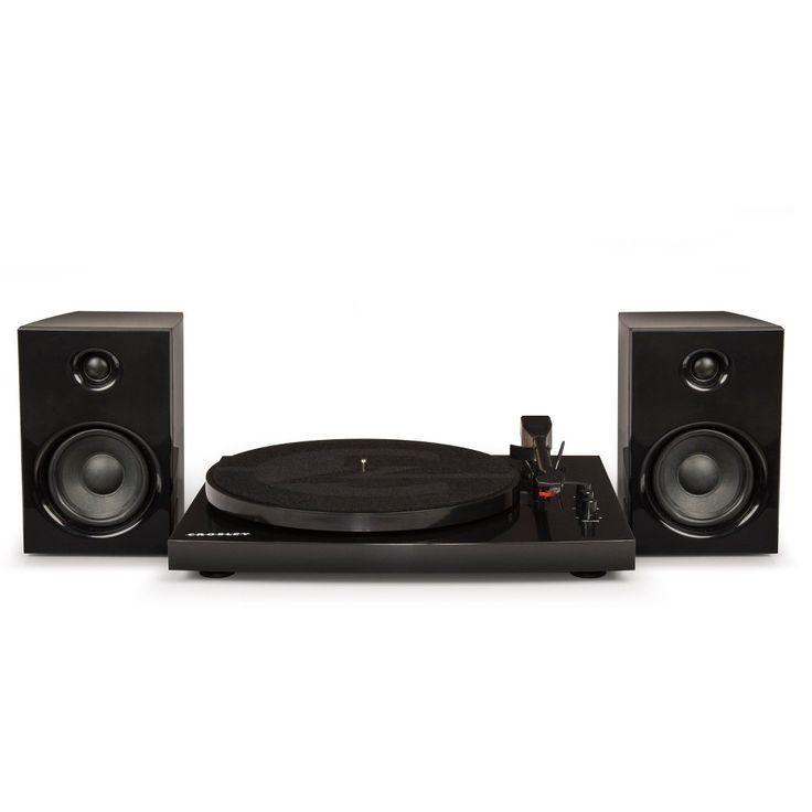 Crosley T100A-BK Vinyl Turntable, Black
