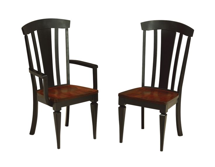 The Lexington Dining Chair Is Shown In Brown Maple With A Black Stain Available