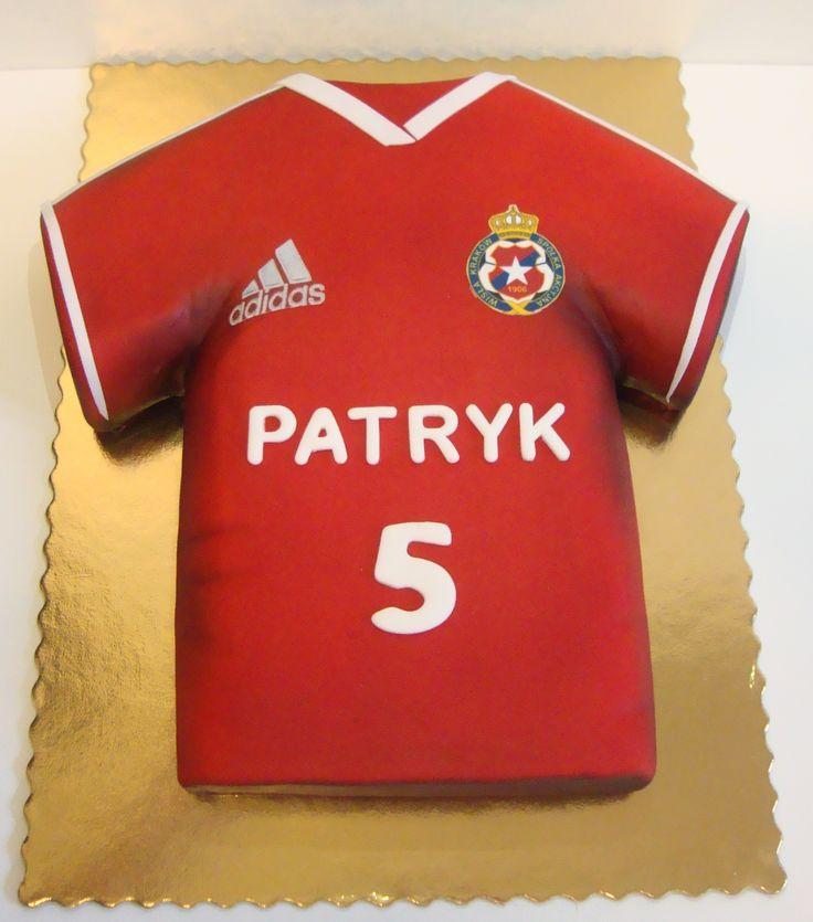 Torty Kraków Cukiernia Gateau Tort koszulka Wisły Kraków #torty #tortykraków #kraków #cukiernia #gateau #cukierniagateau #urodziny #tortyurodzinowe #tortydladzieci