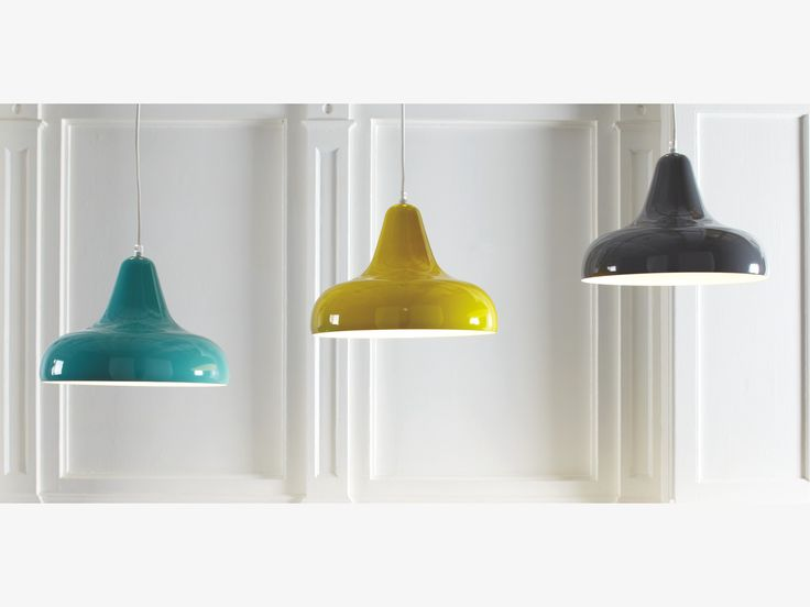 AERIAL YELLOW Metal Yellow metal ceiling light - HabitatUK