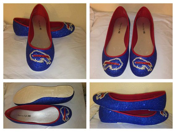 Women's Sparkly glitter Buffalo Bills Football by SportsCoutureCo