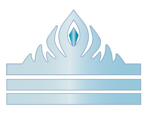 PDF à imprimer pour fabriquer une couronne d'Elsa reine des neiges en bleu.