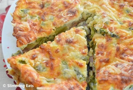Asparagus and Bacon Quiche   Slimming Eats - Slimming World Recipes
