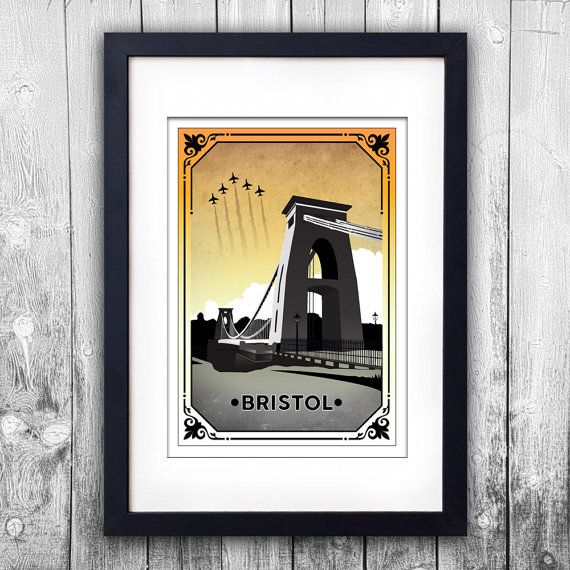 Bristol's Clifton Suspension Bridge signed Giclée print available to choose in different sizes