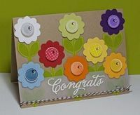 Congrats Card with Button Flowers...