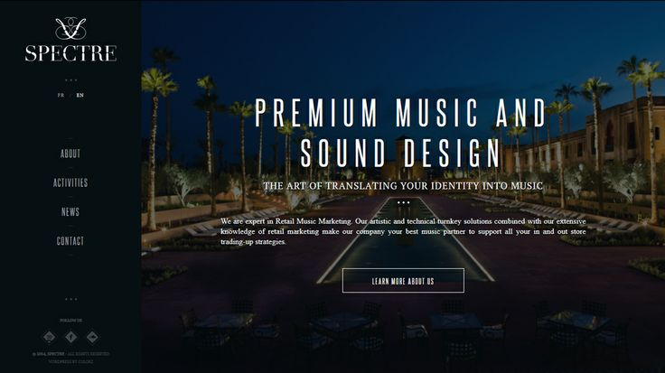 Premium music and sound design http://spectre-agency.com/