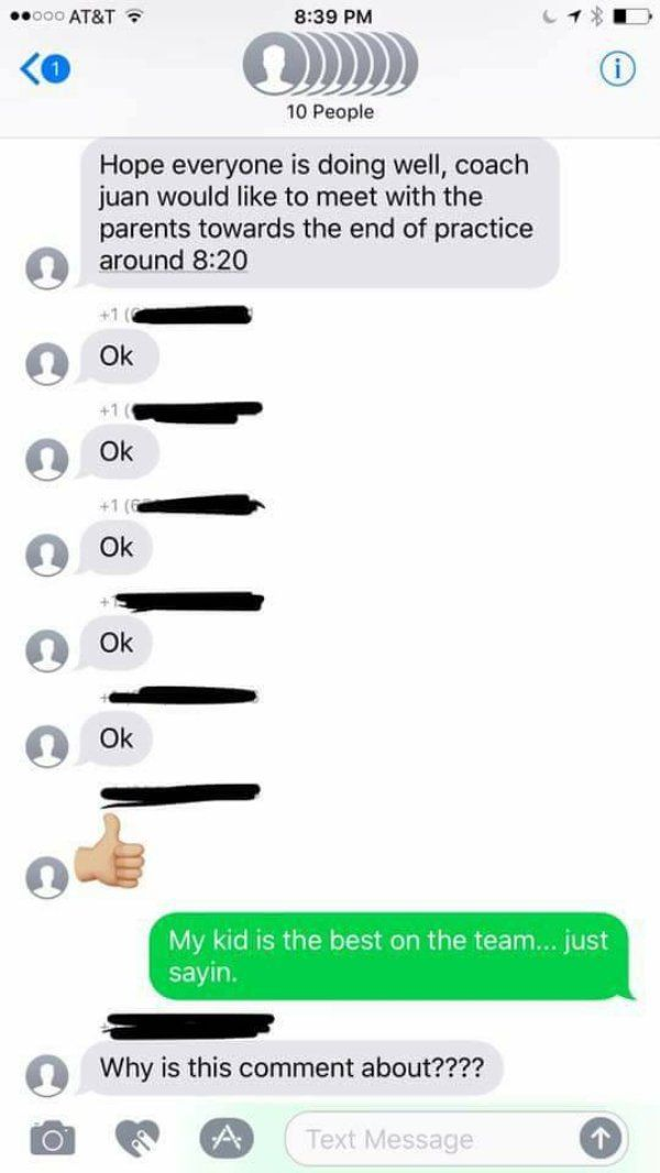 Guy perfectly trolls soccer mom group chat he was accidentally added to – 7 Pics